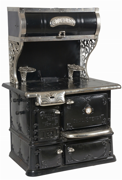 IDEAL STEWART D. CLEMENT STOVE AND OVEN COMBINATION.