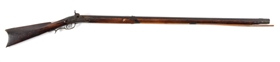 (A) FULLSTOCK PERCUSSION .44 CALIBER LONG RIFLE SIGNED S. THOMPSON.