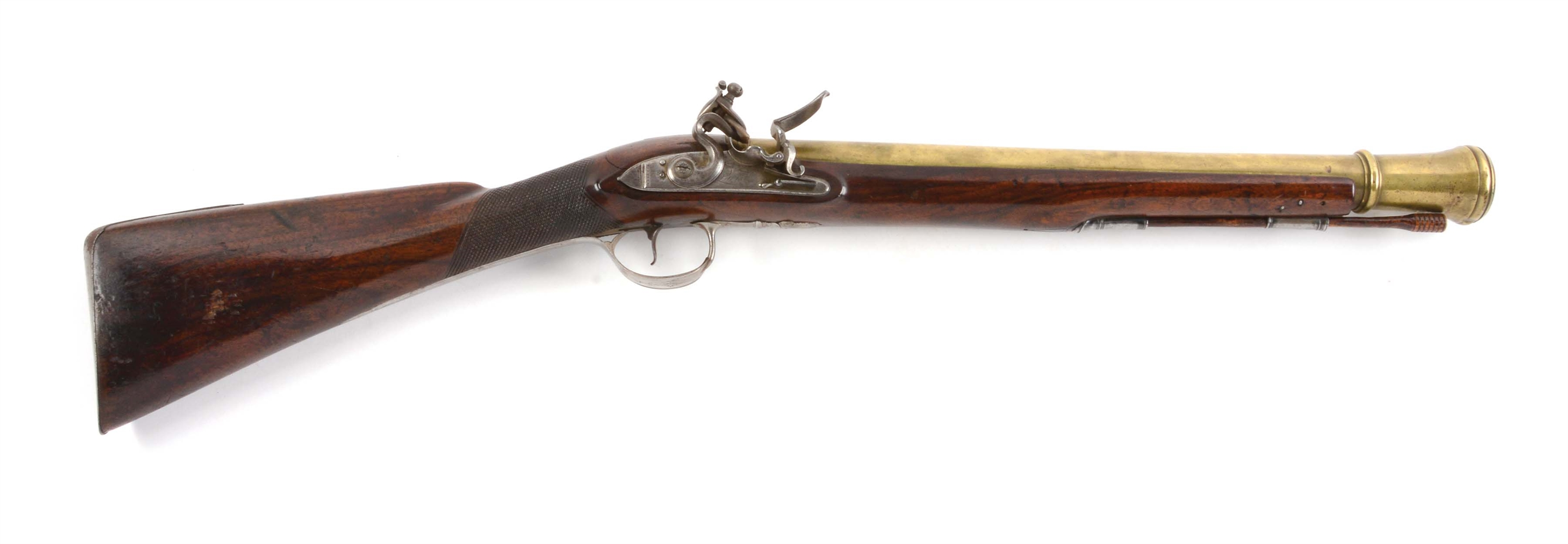 (A) FINE BRASS BARRELED ENGLISH BLUNDERBUSS.