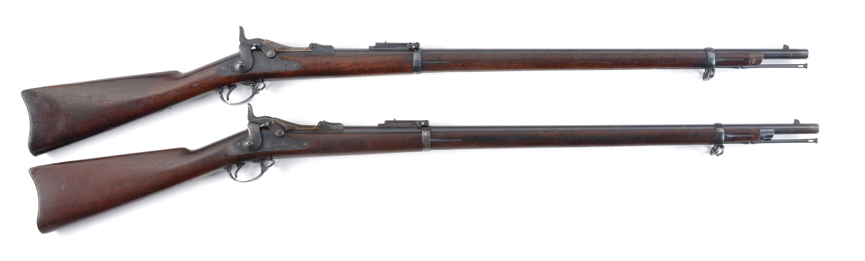 (A) PAIR OF SPRINGFIELD 1884 TRAPDOOR RIFLES IN .45-70.