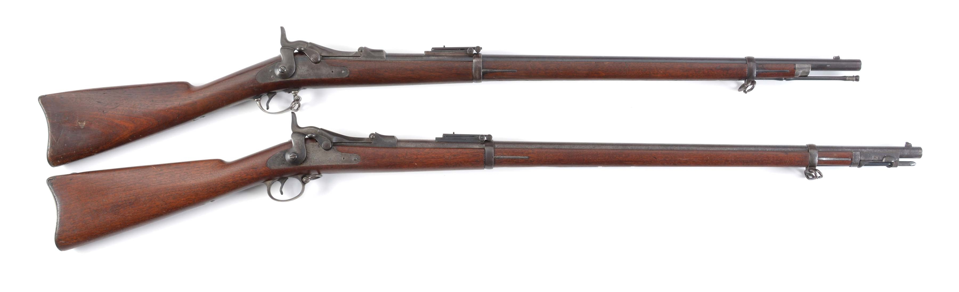 (A) LOT OF TWO: SPRINGFIELD 1884 CADET TRAPDOOR AND 1888 TRAPDOOR RIFLES.