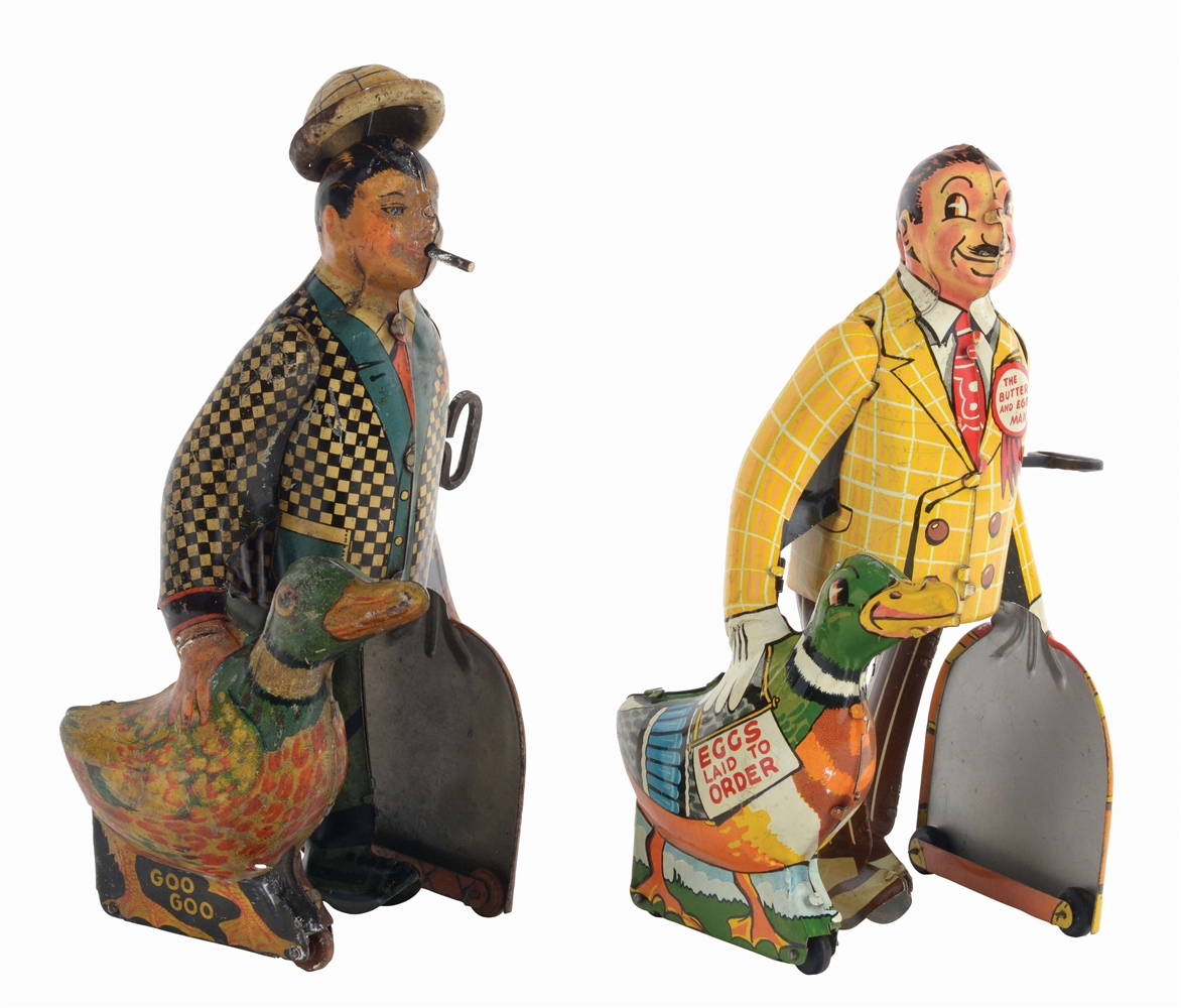 LOT OF 2: MARX TIN-LITHO WIND-UP CHARACTER WALKING TOYS.