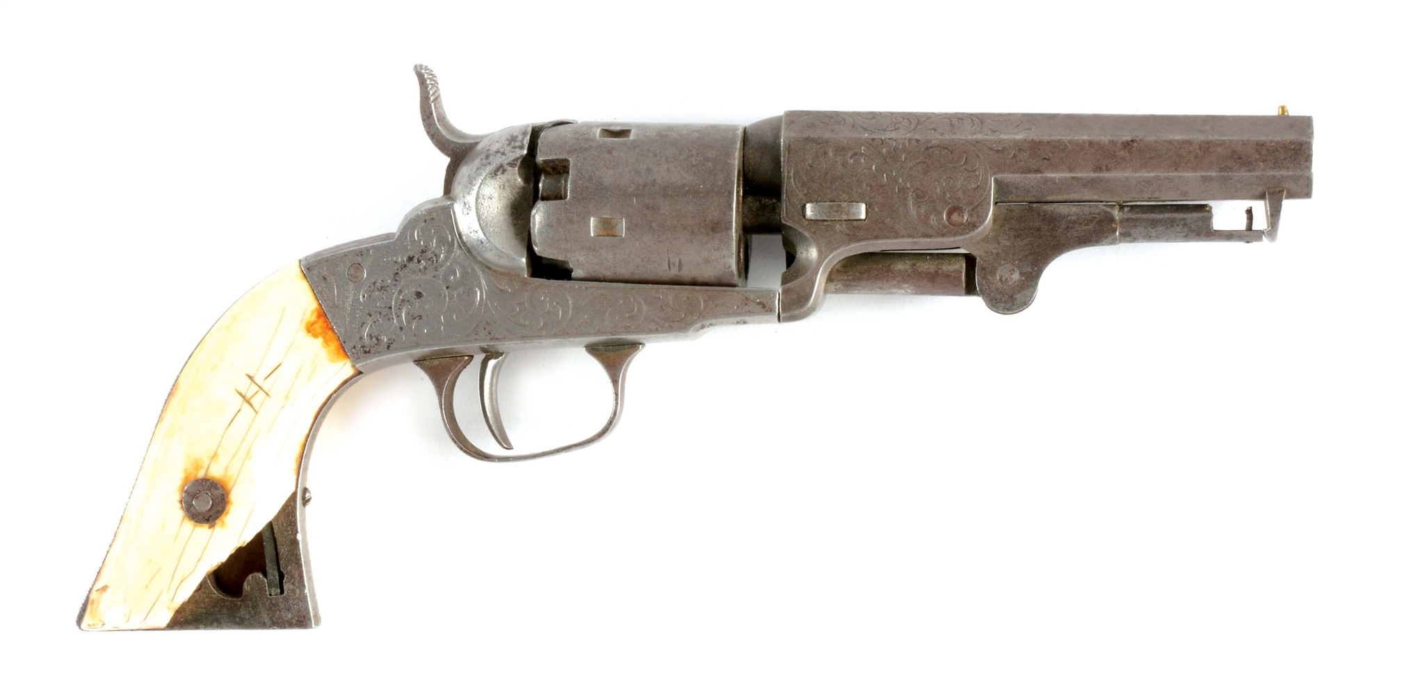 (A) MANHATTAN FIREARMS POCKET MODEL REVOLVER, SERIAL NUMBER 6.
