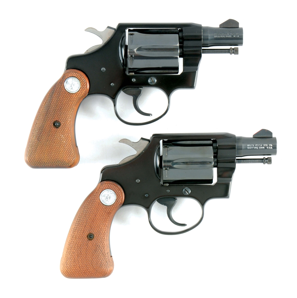 (M) LOT OF TWO: PAIR OF COLT COBRA .38 SPECIAL REVOLVERS WITH BOXES