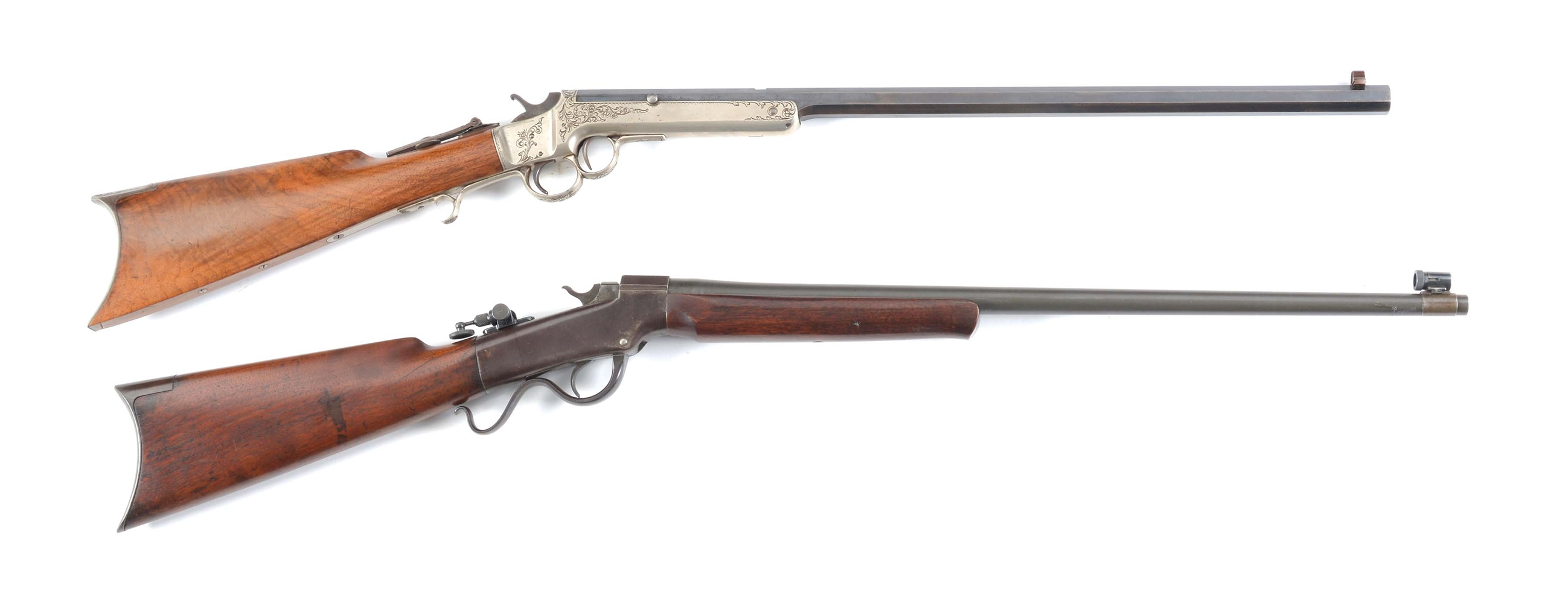 (A) LOT OF TWO: FRANK WESSON .32 AND MARLIN BALLARD .22 SINGLE SHOT RIFLES.