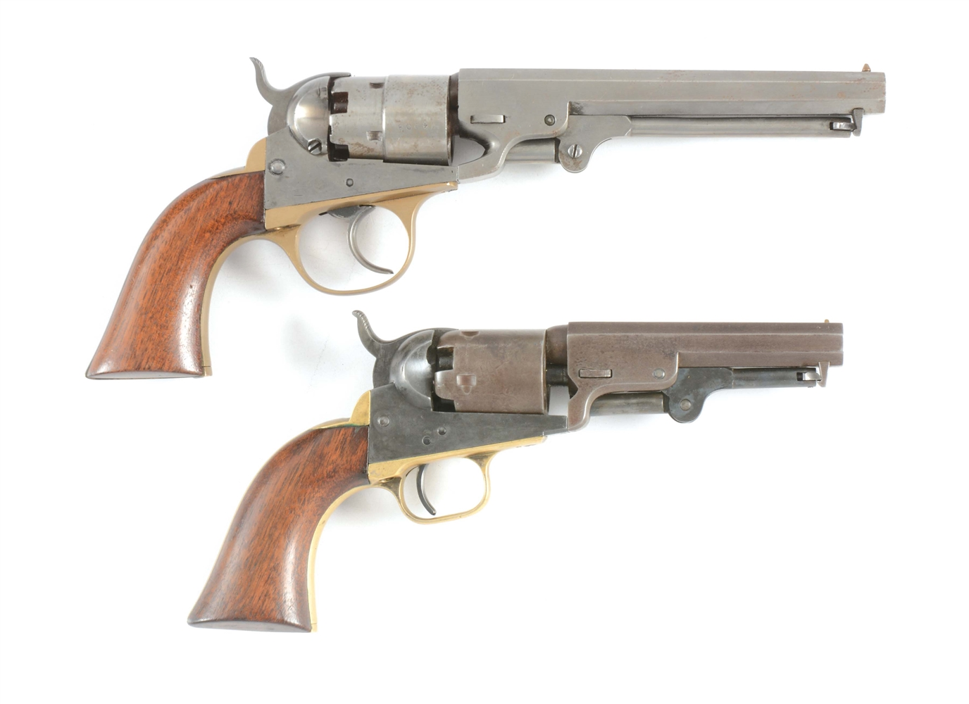 (A) LOT OF TWO PERCUSSION REVOLVERS: (A) COOPER 1860 .38 (B) COLT 1849 POCKET .31