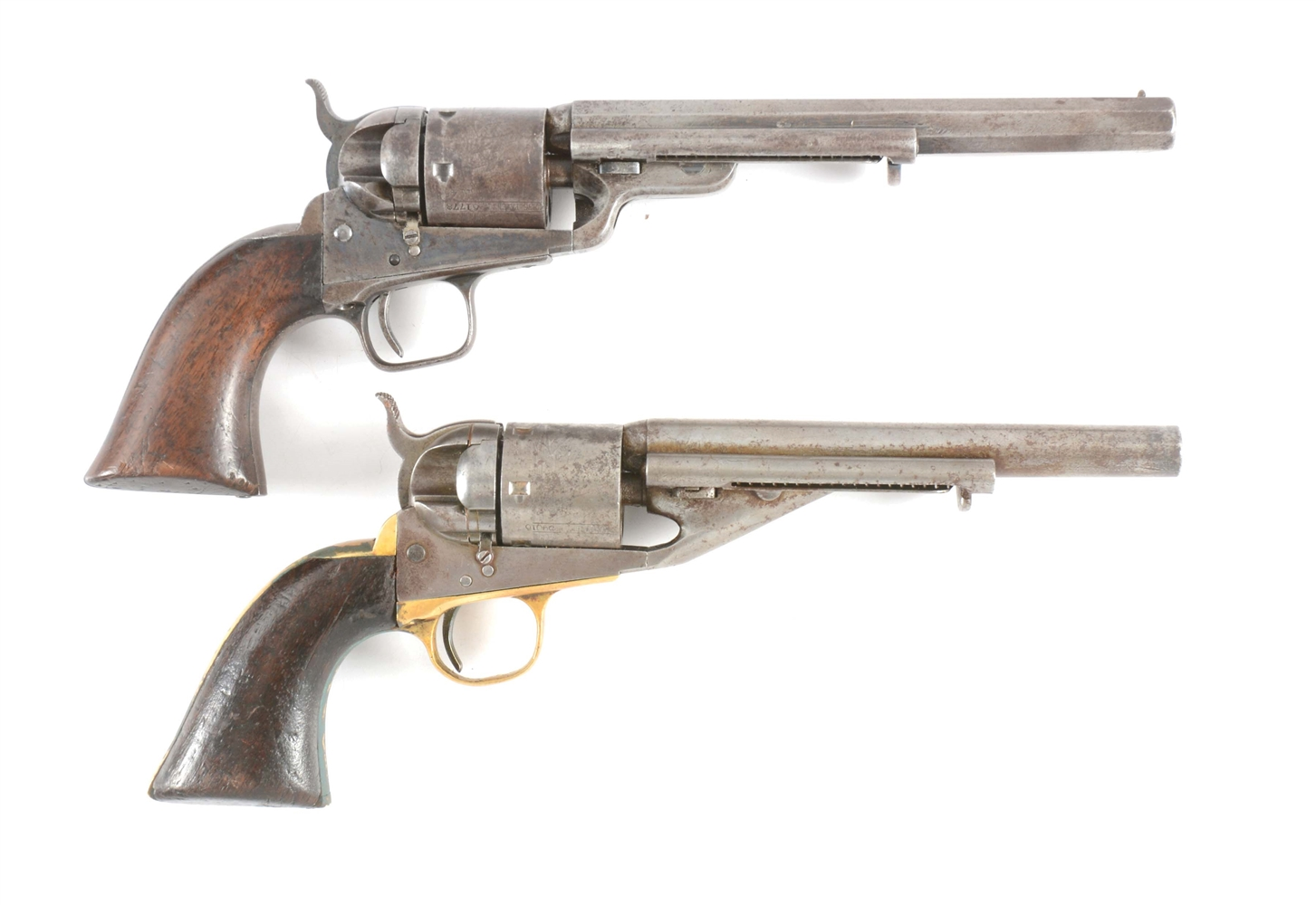 (A) LOT OF TWO: TWO COLT 1861 NAVY CONVERSIONS TO CENTERFIRE.