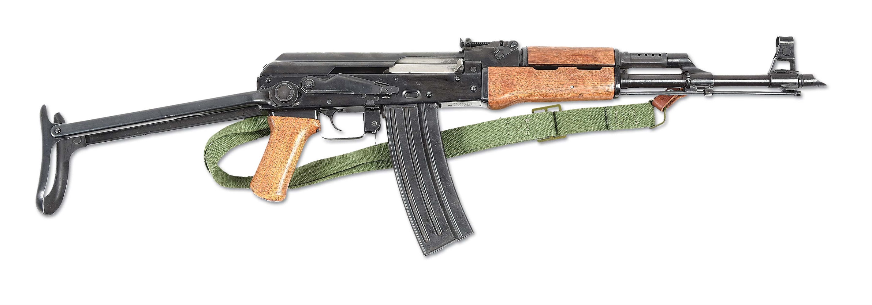 (N) VERY ATTRACTIVE CHINESE UNDER-FOLDING STOCK AKS-223 MACHINE GUN (FULLY TRANSFERABLE).