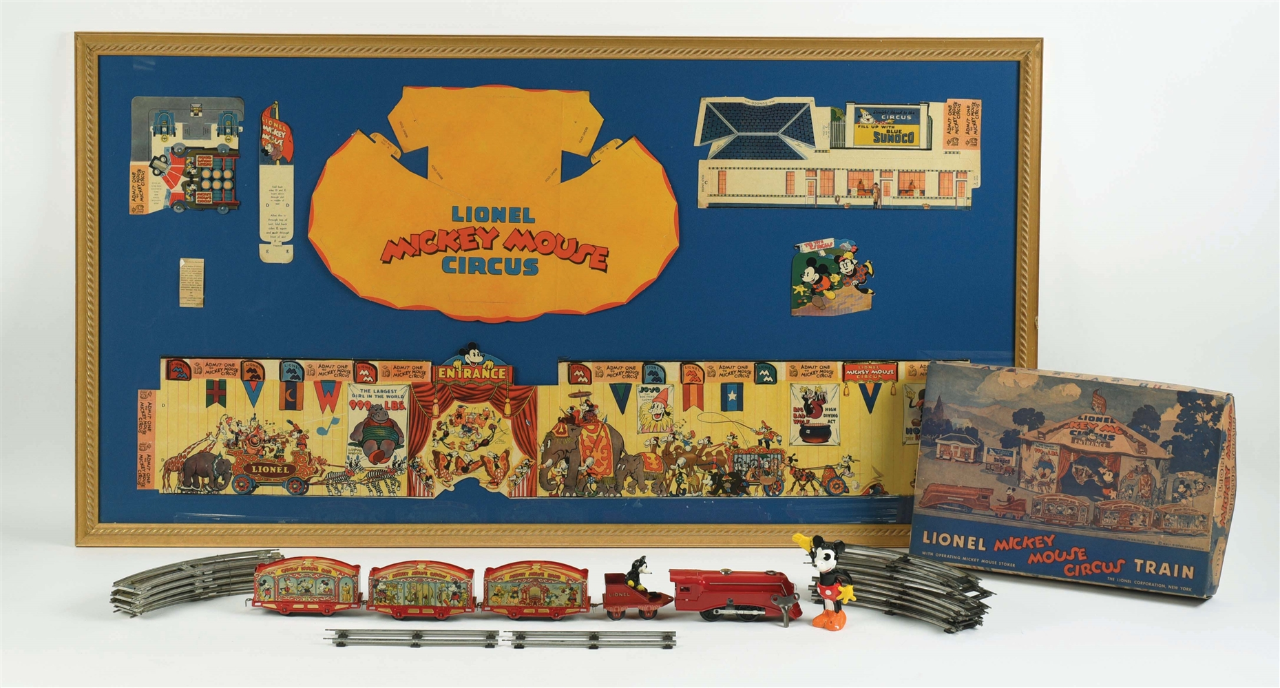LIONEL WALT DISNEY MICKEY MOUSE CIRCUS TRAIN WITH ORIGINAL BOX.