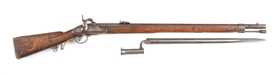 (A) AUSTRIAN .75 CALIBER PERCUSSION RIFLE WITH SABER BAYONET