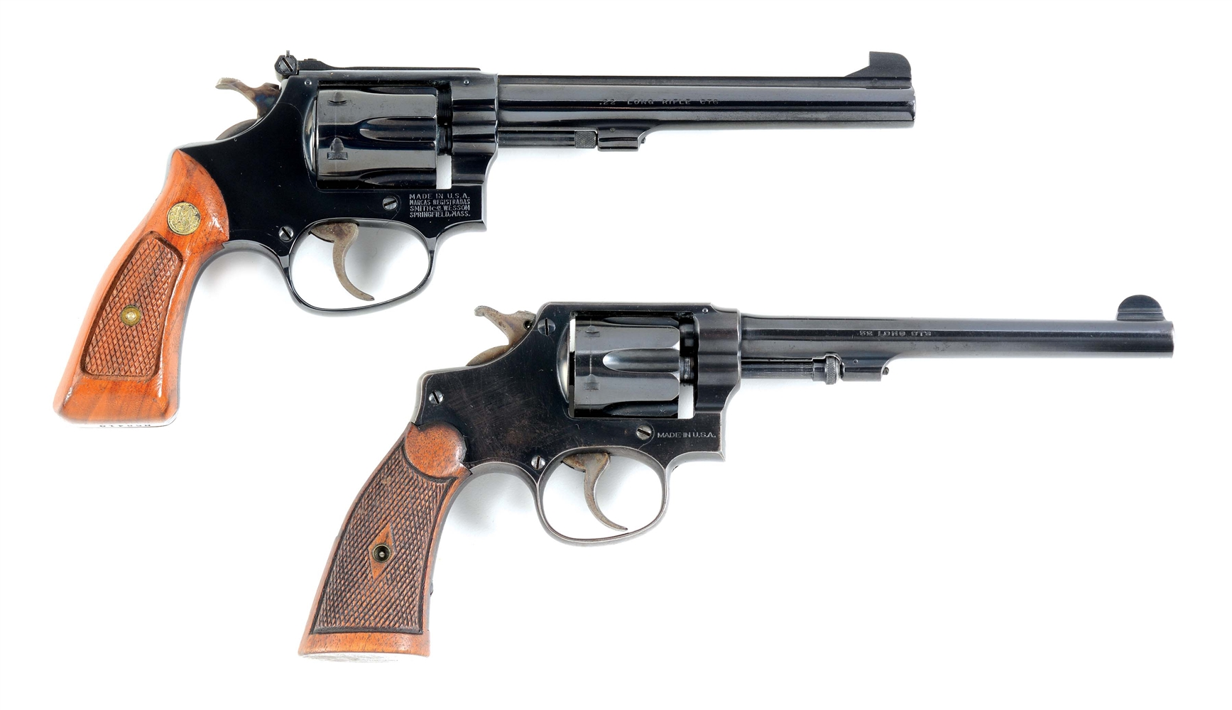(C) LOT OF 2:MODEL 35-1 AND 32 HE THIRD ISSUE SMITH & WESSONS.