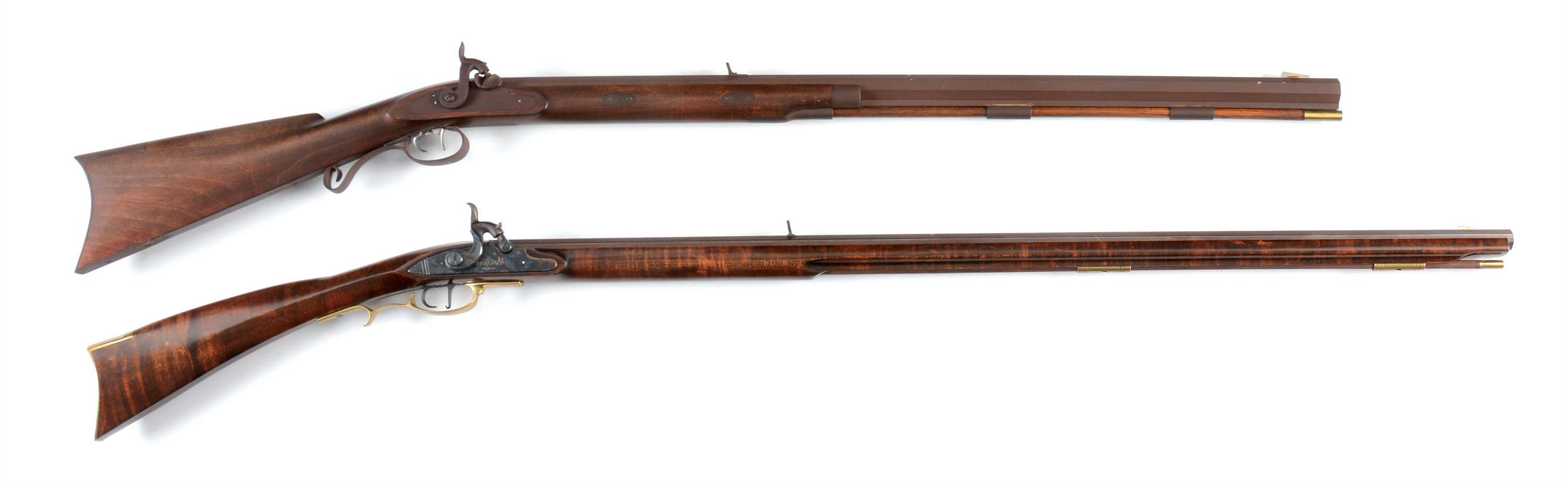 (A) LOT OF TWO: TWO PERCUSSION RIFLES, ONE .54 AND ONE .36 CALIBER.