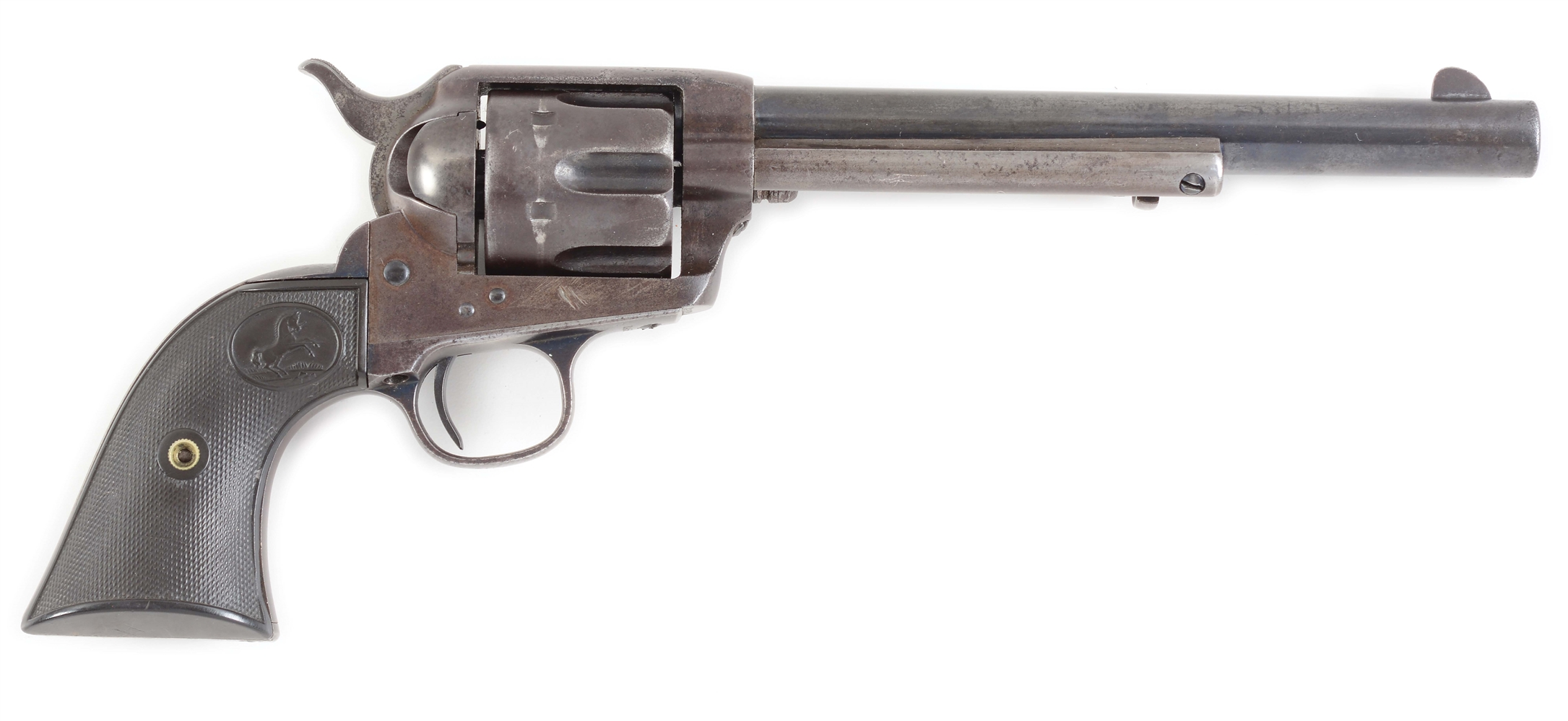 (A) COLT FRONTIER SIX SHOOTER SINGLE ACTION ARMY REVOLVER WITH FACTORY LETTER.