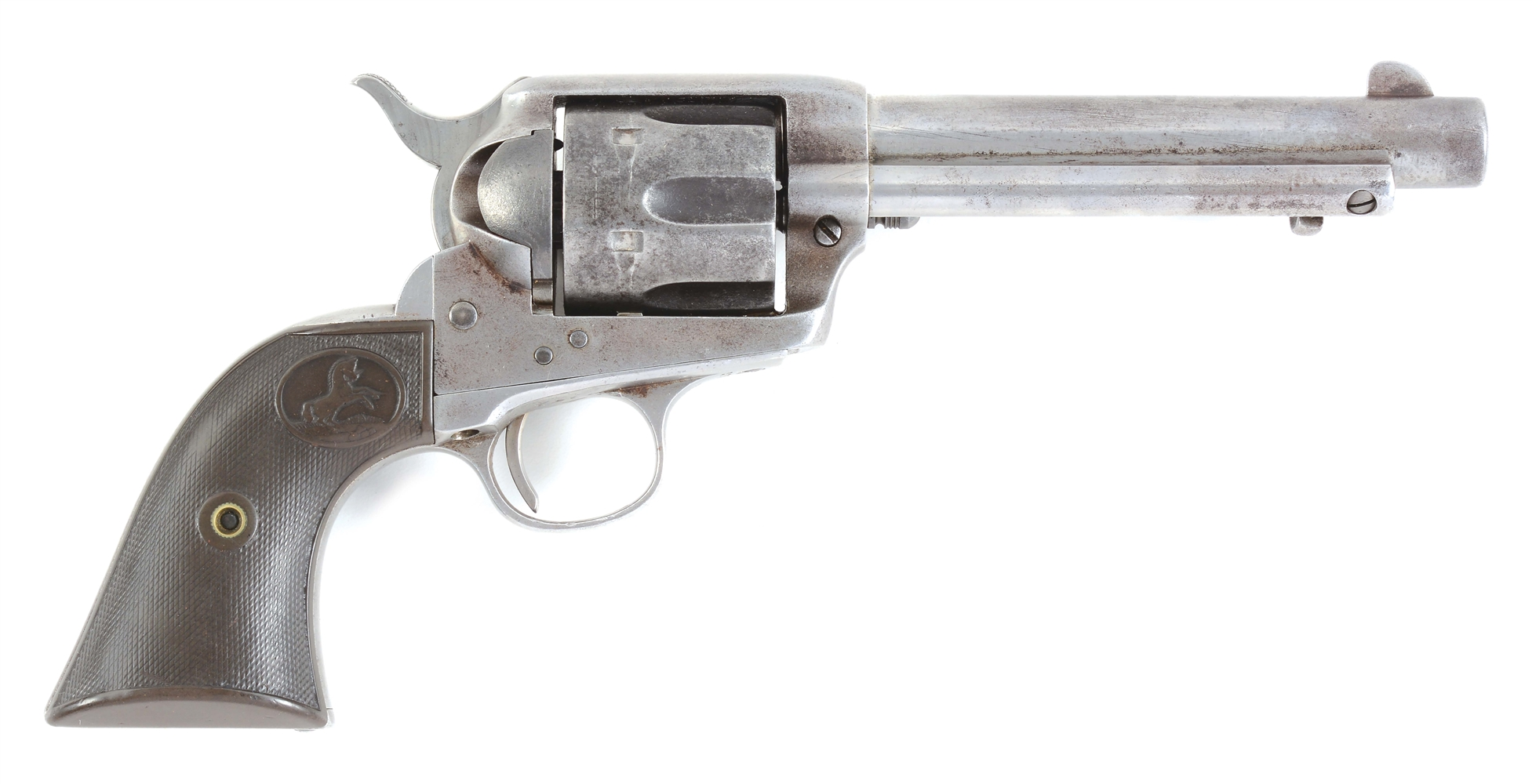 (C) COLT SINGLE ACTION ARMY .44-40 FRONTIER SIX SHOOTER REVOLVER.