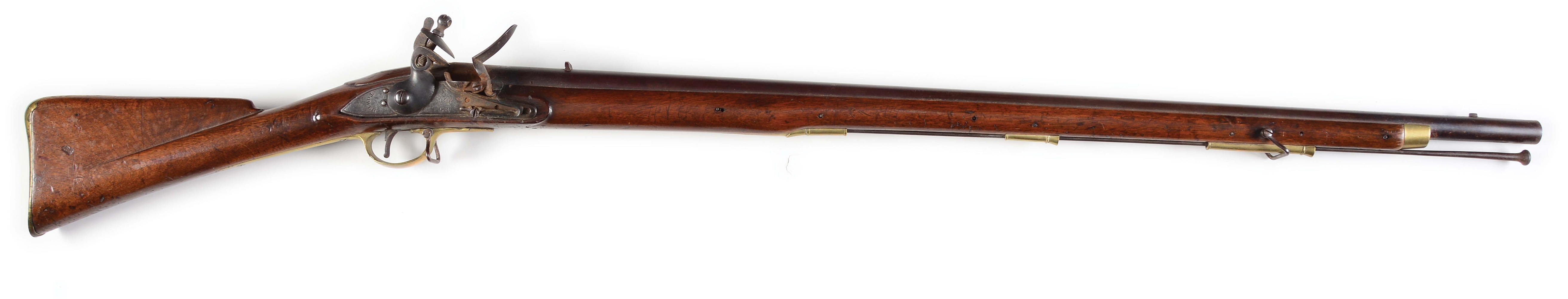 (A) BRITISH TOWER NEW LAND PATTERN FLINTLOCK MUSKET.