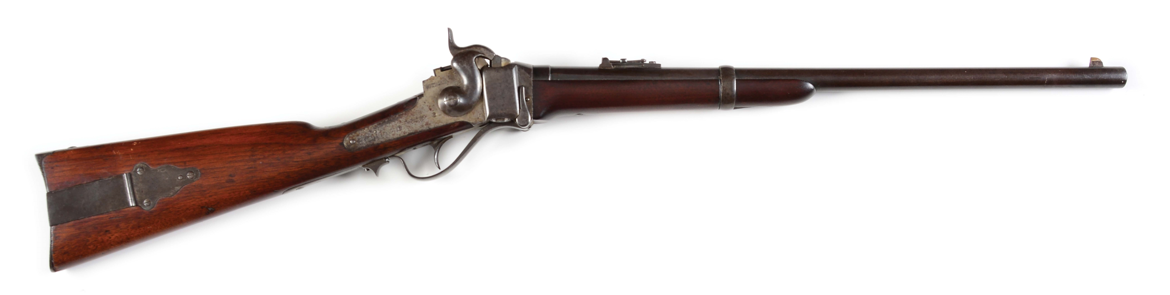 (A) SHARPS NEW MODEL 1868 SADDLE RING CARBINE, INDIAN WARS .50-70 CARTRIDGE CONVERSION.