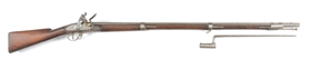 (A) SCARCE SECOND MODEL VIRGINIA MANUFACTORY .69 CALIBER MUSKET IN ORIGINAL FLINT DATED 1818.