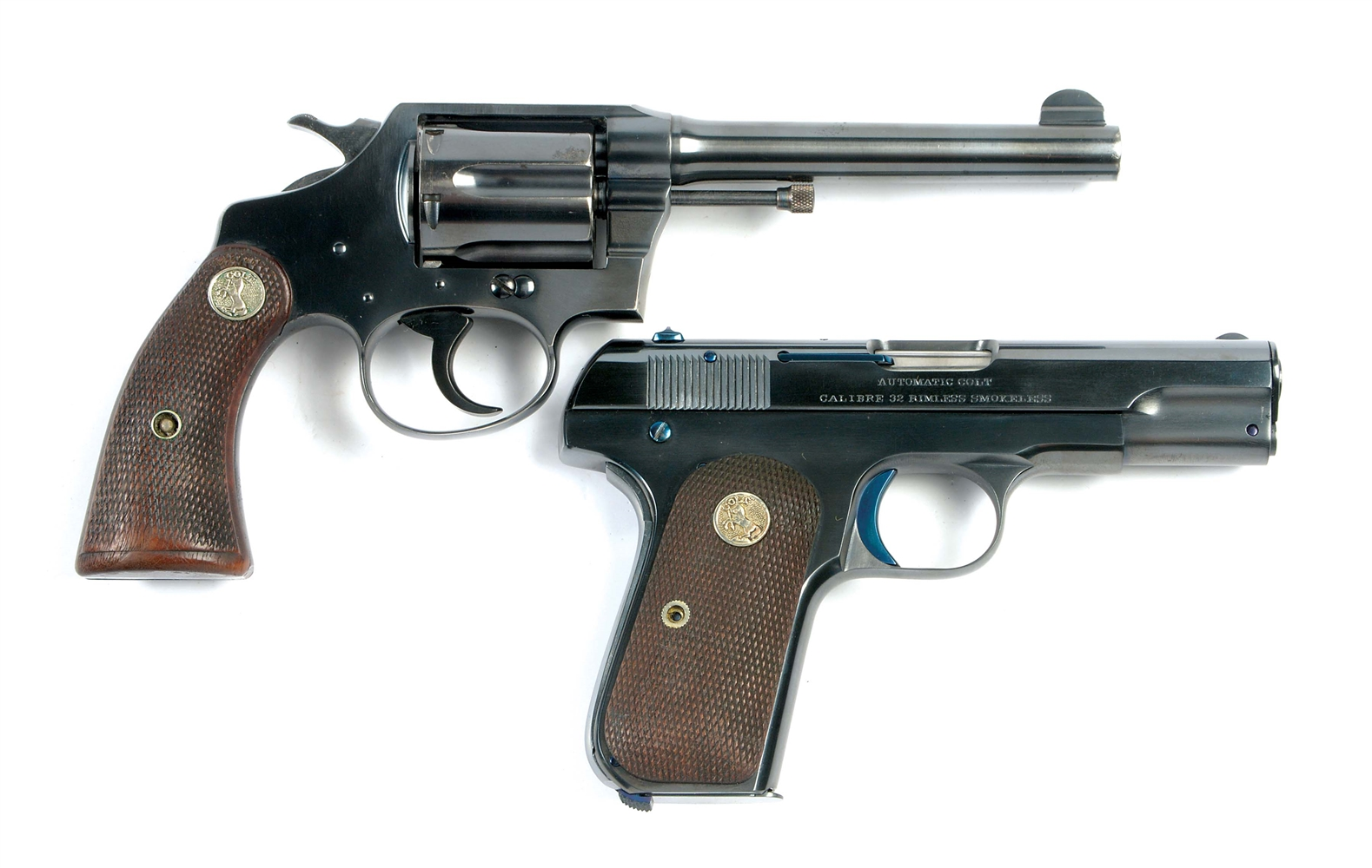 (C) LOT OF TWO: TWO FINE PRE-WAR COLT CLASSIC FIREARMS.
