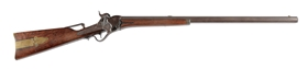 (A) SHARPS MODEL 1851 PERCUSSION SPORTING RIFLE.
