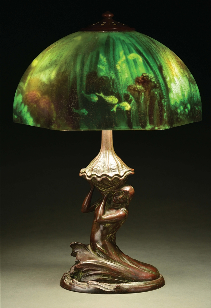 HANDEL UNDERWATER LAMP WITH MERMAID BASE.