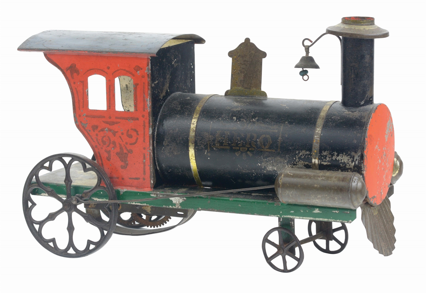 ATTRIBUTED TO IVES TIN HERO CLOCKWORK LOCOMOTIVE.