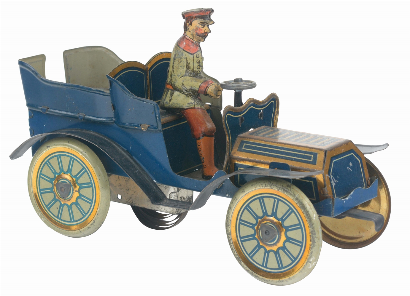 GERMAN TIN-LITHO WIND-UP HESS TOURING AUTOMOBILE.
