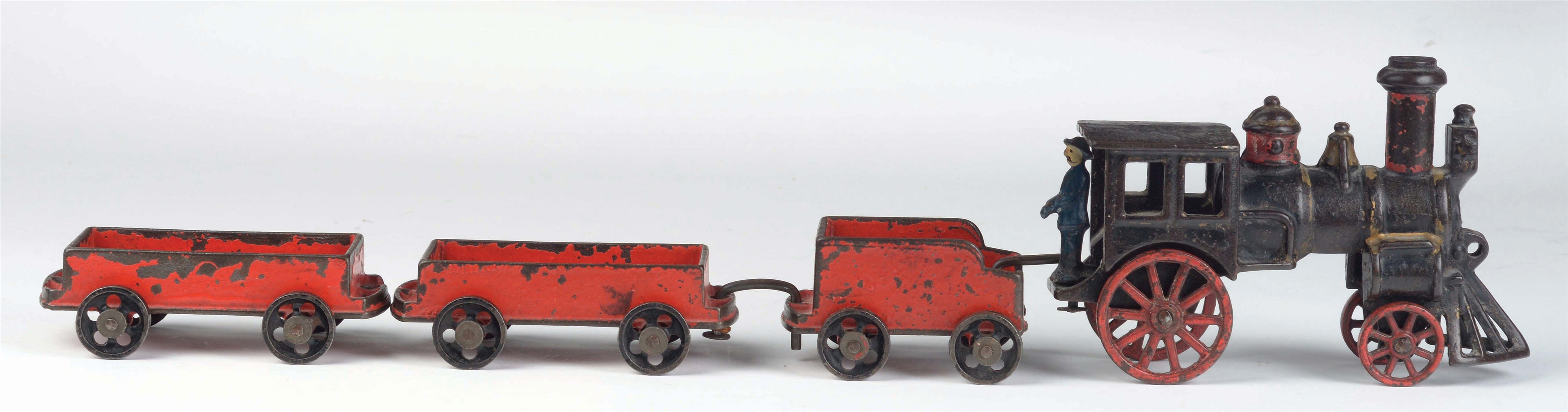 CAST-IRON AMERICAN MADE FREIGHT TRAIN SET.