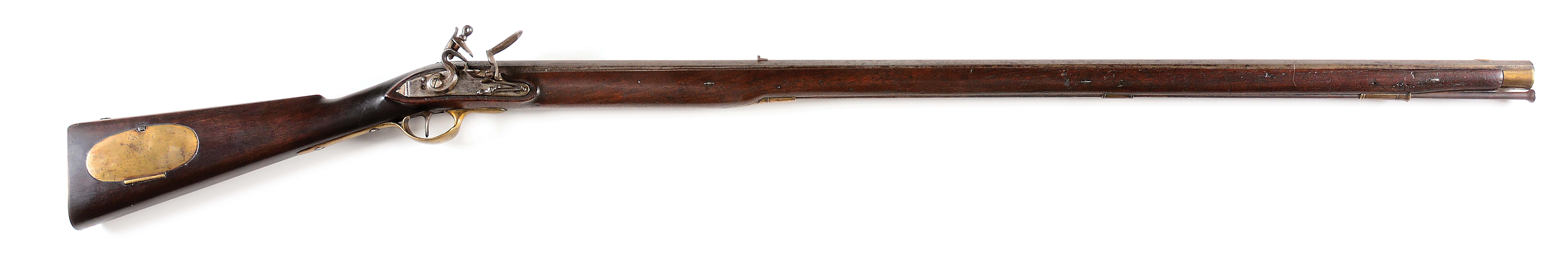 "(A) SCARCE 1814 TRYON MADE ""CP"" MARKED FLINTLOCK RIFLE."