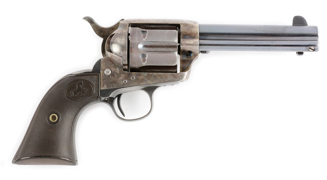 (C) COLT SINGLE ACTION ARMY REVOLVER - LONG FLUTE (1915).