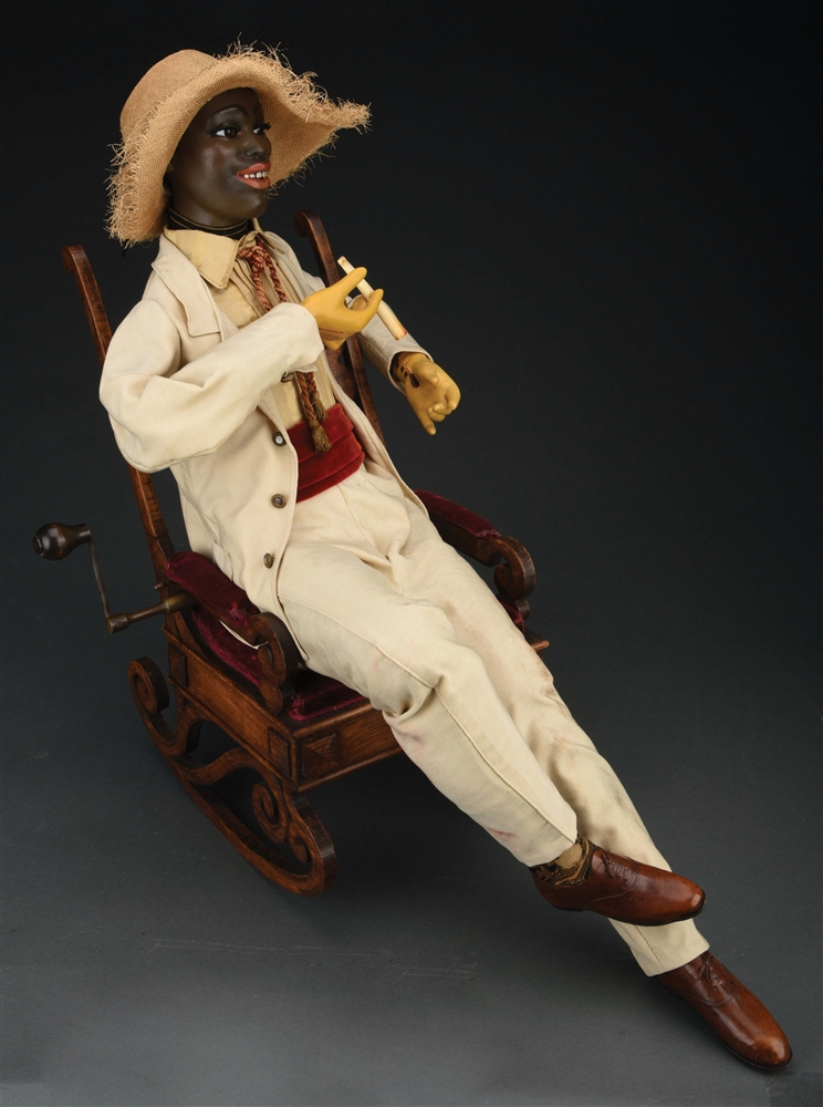 MUSICAL AUTOMATON BY GUSTAV VICHY BLACK MAN WITH CIGARETTE.