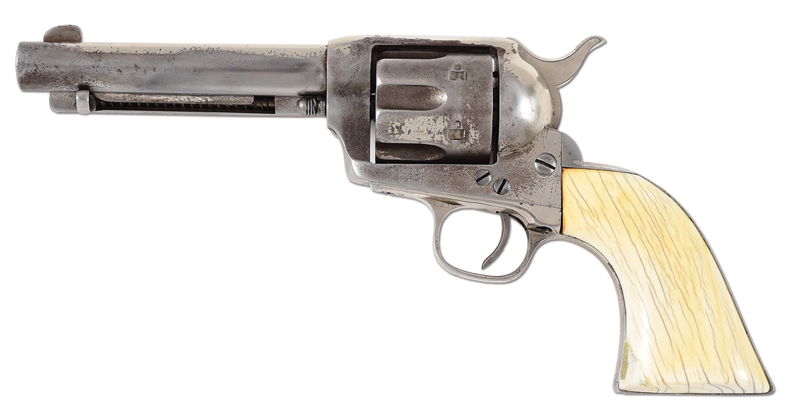 (A) ANTIQUE COLT SINGLE ACTION ARMY REVOLVER.