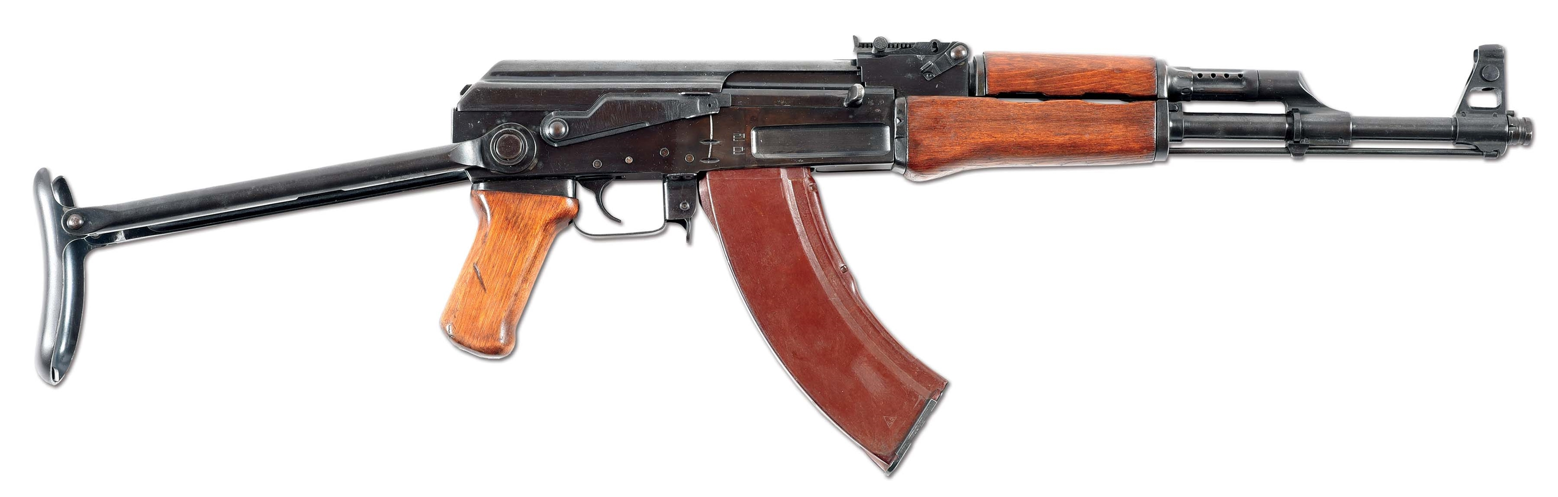 (N) BEAUTIFUL HIGH CONDITION NORTH KOREAN FOLDING STOCK TYPE 58 (AK-47) MACHINE GUN (FULLY TRANSFERABLE).