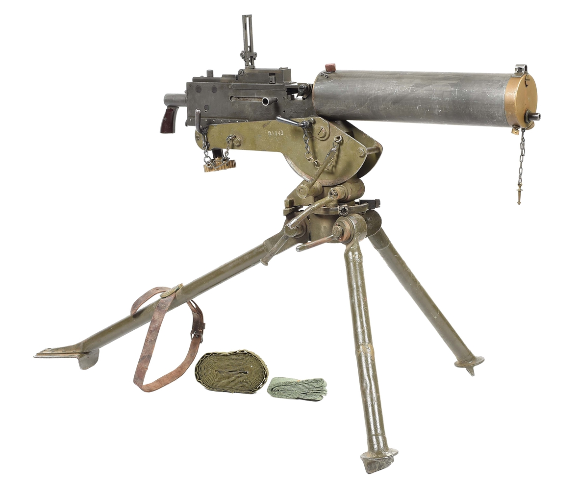 "(N) INTERESTING ""U.S."" MANUFACTURED BROWNING 1917A1 WATER COOLED MACHINE GUN WITH TRIPOD (FULLY TRANSFERABLE)."