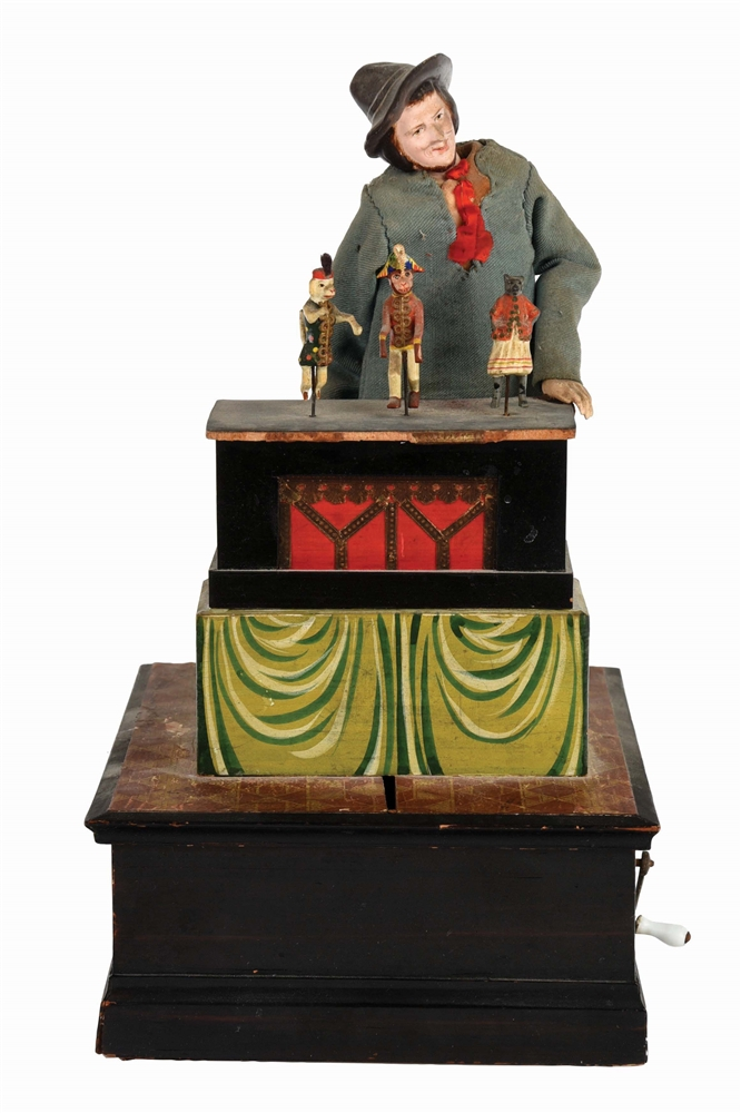 VERY EARLY EUROPEAN ORGAN GRINDER AUTOMATON.