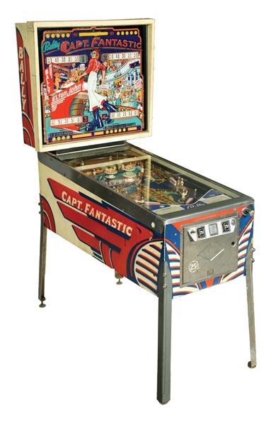 Captain fantastic pinball machine close up