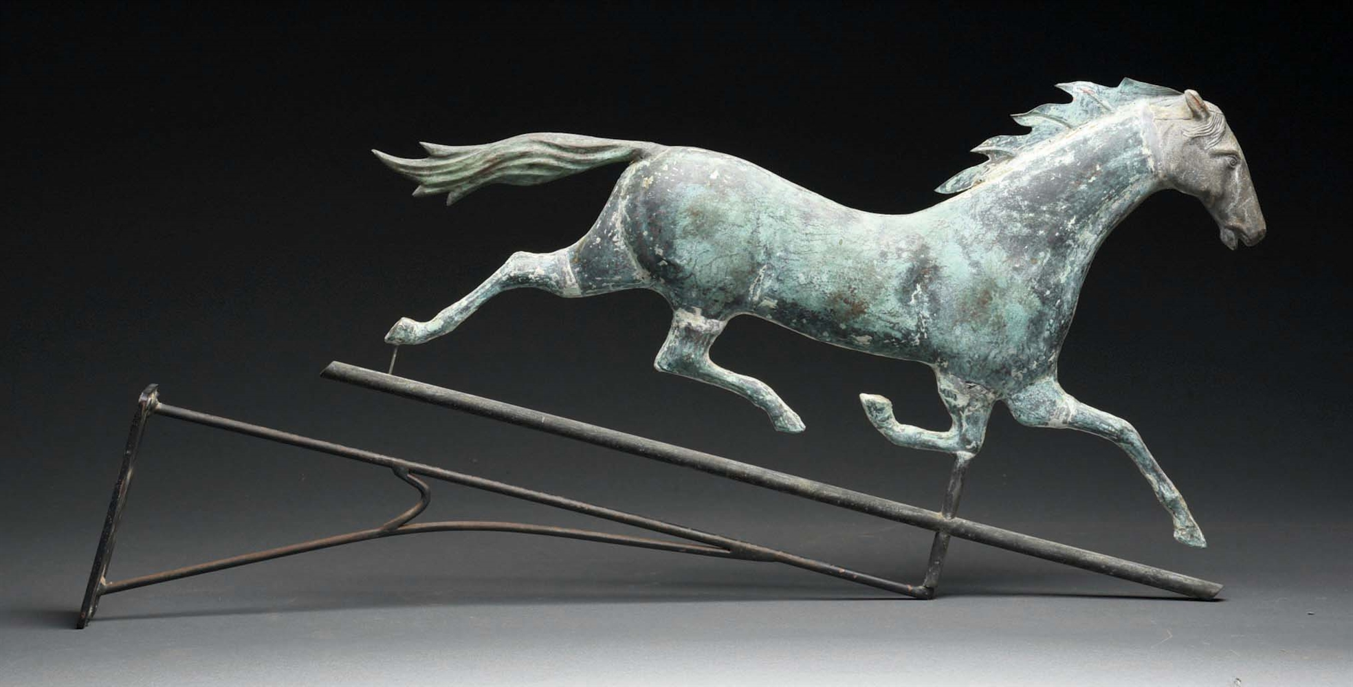 2 PIECE HORSE WEATHERVANE.