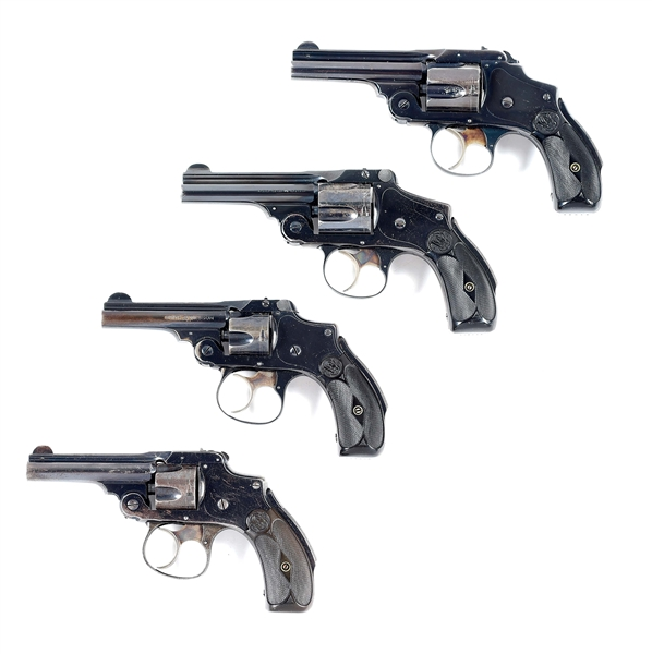 (C) LOT OF 4: SMITH & WESSON SAFETY HAMMERLESS REVOLVERS.