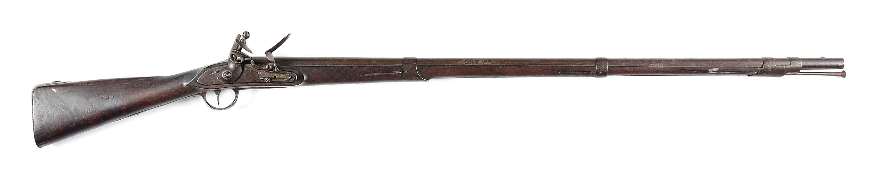(A) UNMARKED MODEL 1812 FLINTLOCK .69 CALIBER CONTRACT RIFLE.
