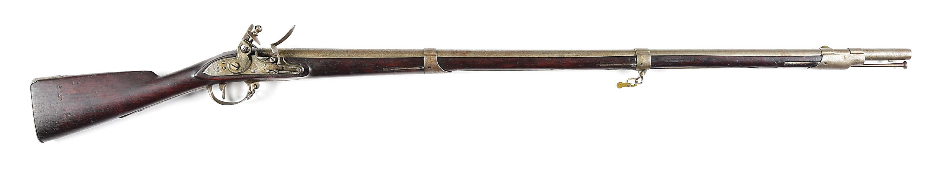 (A) W.N & S OF PHILADELPHIA MODEL 1808 FLINTLOCK .69 CALIBER RIFLE.
