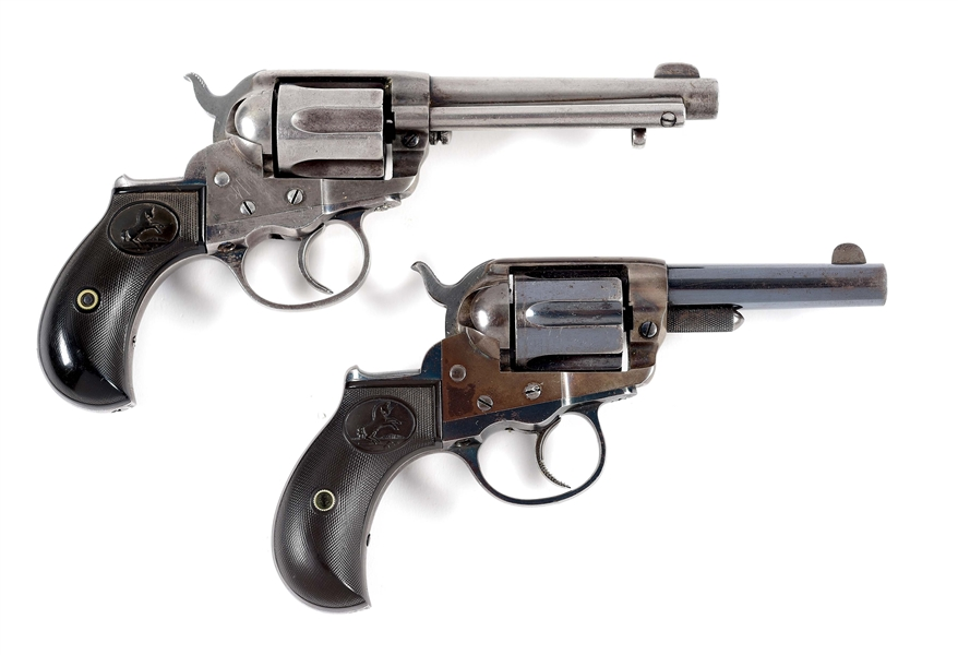 (A) LOT OF 2: COLT 1877 STOREKEEPER AND LIGHTNING REVOLVERS.