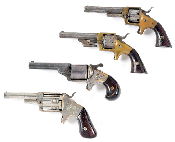 (A) COLLECTORS LOT OF 4: EARLY ROLLIN WHITE PATENT AVOIDANCE REVOLVERS.