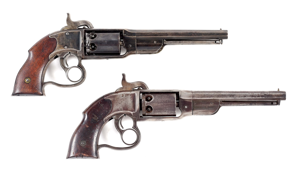 (A) LOT OF 2: CIVIL WAR SAVAGE NAVY PERCUSSION REVOLVERS.