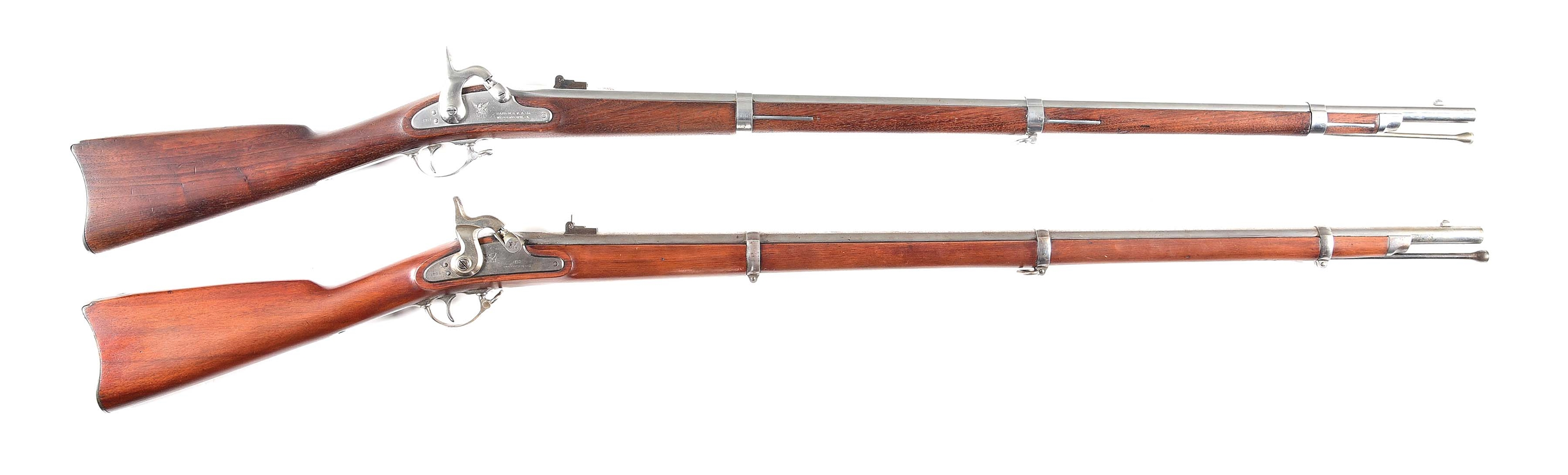 (A) COLLECTORS LOT OF 2: CIVIL WAR MODELS 1861 AND 1863 RIFLE MUSKETS