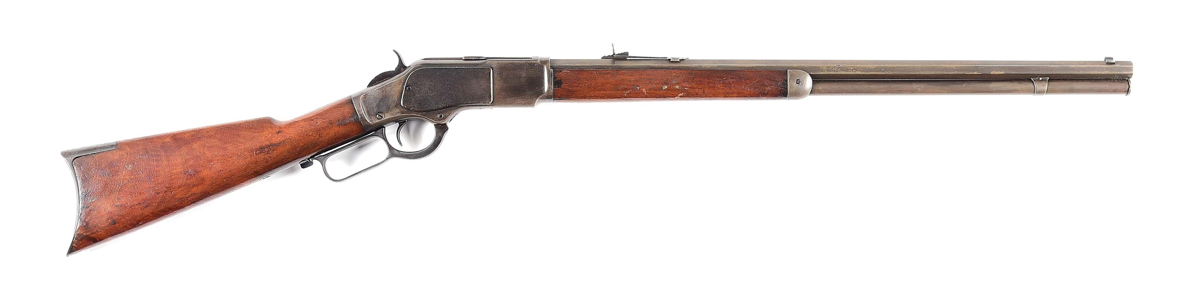 (A) WINCHESTER 1873 .22 CALIBER LEVER ACTION RIFLE.
