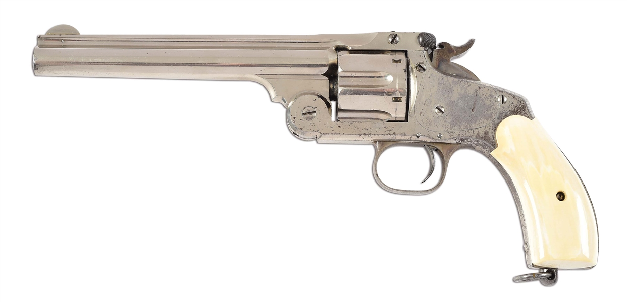 (A) SMITH AND WESSON NEW MODEL NUMBER THREE REVOLVER.