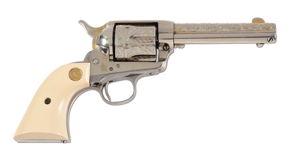 (C) COLT SINGLE ACTION ARMY .44-40 REVOLVER.