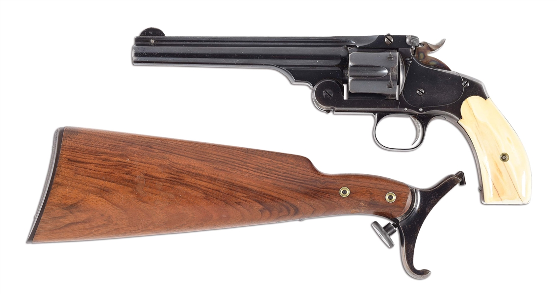 (A) SMITH AND WESSON NUMBER THREE WITH DETACHABLE STOCK.