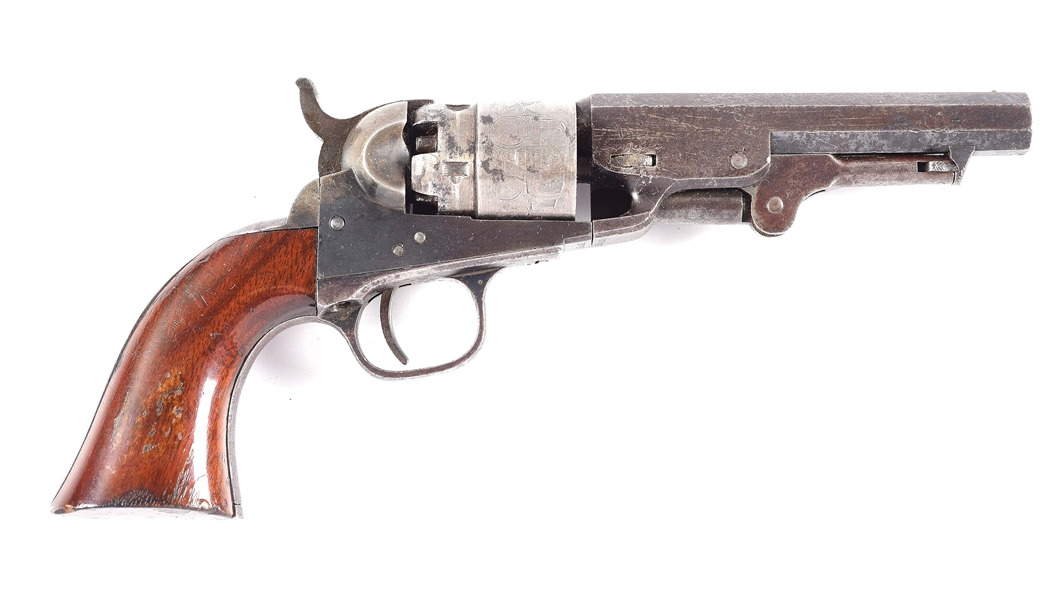 (A) COLT MODEL 1862 POCKET NAVY PERCUSSION REVOLVER.