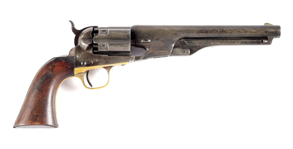 (A) COLT FLUTED MODEL 1860 PERCUSSION REVOLVER.