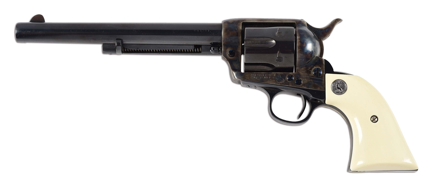(C) COLT .45 LC SINGLE ACTION ARMY REVOLVER.